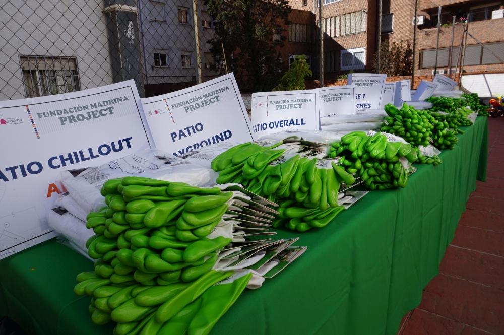 teambuilding solidario caso madrina materiales verdes